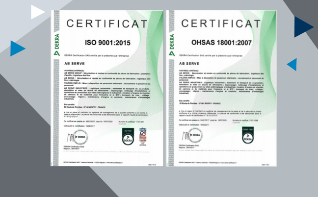 Certifications AB Serve