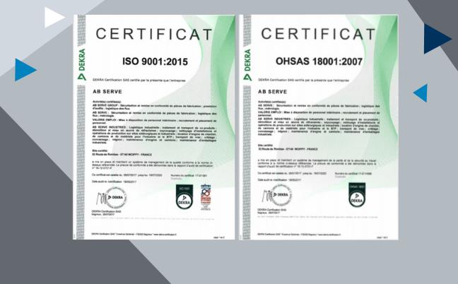 Certifications AB Serve