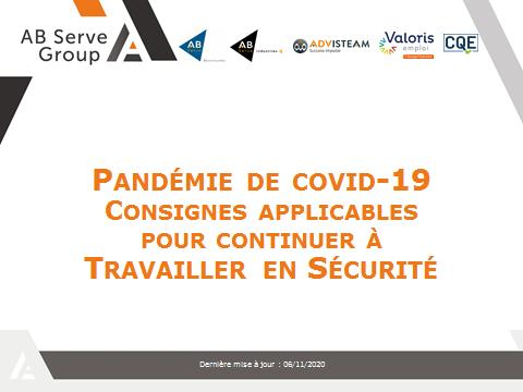 COVID-19 : continuer à travailler en sécurité