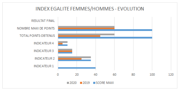 évolution index égalité hommes femmes AB Serve 2019 2020